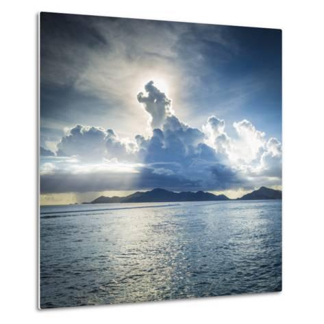 Praslin Island from Anse Source D'Argent Beach, La Digue, Seychelles-Jon Arnold-Metal Print