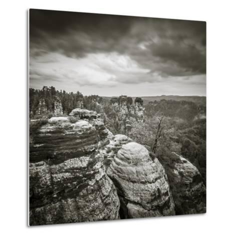 Bastei, Saxon Switzerland National Park, Saxony, Germany-Jon Arnold-Metal Print