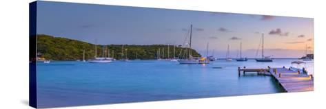 Caribbean, Antigua, Freeman's Bay, Galleon Beach at Dusk-Alan Copson-Stretched Canvas Print