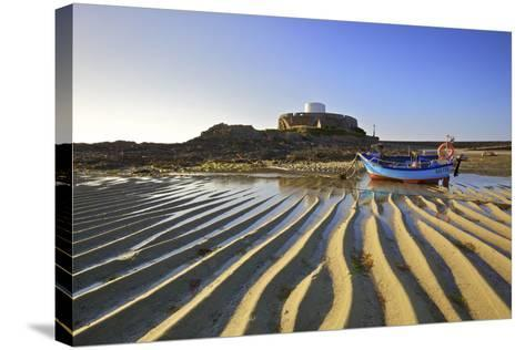Fort Grey, Rocquaine Bay, Guernsey, Channel Islands-Neil Farrin-Stretched Canvas Print