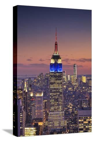 Usa, New York, Manhattan, Top of the Rock Observatory, Midtown Manhattan and Empire State Building-Michele Falzone-Stretched Canvas Print