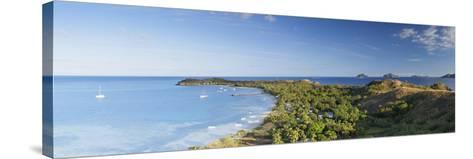 View of Mana Island, Mamanuca Islands, Fiji-Ian Trower-Stretched Canvas Print