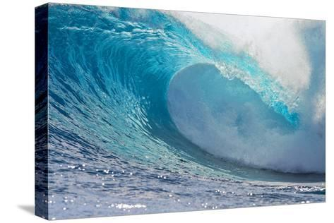 Waves in the Ocean, Tahiti, French Polynesia--Stretched Canvas Print