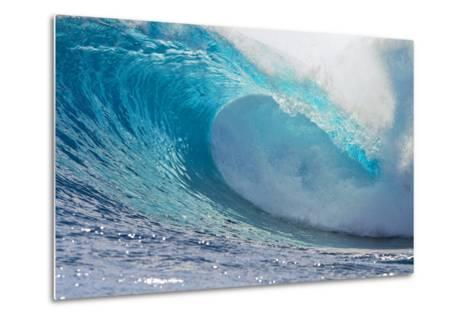 Waves in the Ocean, Tahiti, French Polynesia--Metal Print