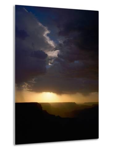 Breaking Storm at Sunset over the Grand Canyon from Yaki Point on the South Rim--Metal Print
