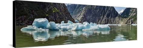 Icebergs Floating on Water of Tracy Arm Fjord, Southeast Alaska, Alaska, Usa--Stretched Canvas Print