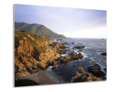 Waves Breaking on Garrapata Beach on the Big Sur Coast of California--Metal Print