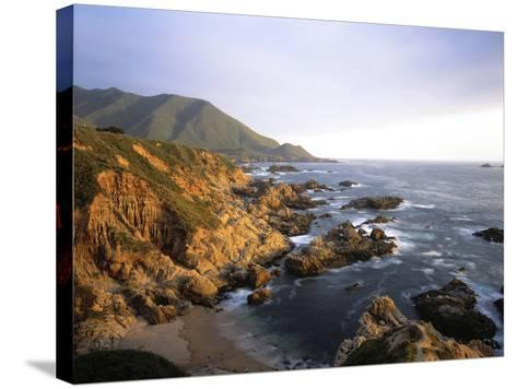 Waves Breaking on Garrapata Beach on the Big Sur Coast of California--Stretched Canvas Print