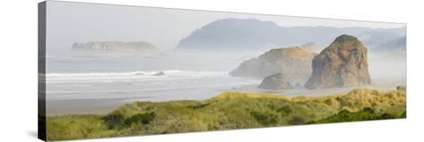 Rock Formations in the Ocean, Oregon Coast, Myers Creek Beach, Pistol River State Park, Oregon, Usa--Stretched Canvas Print