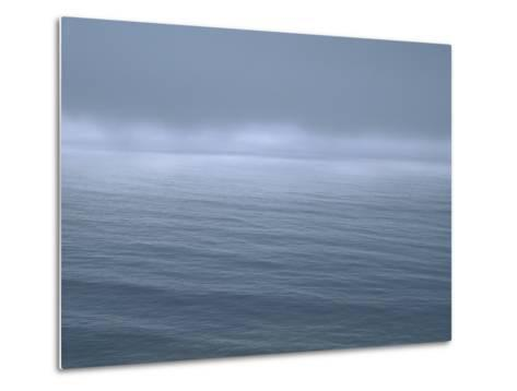 Gloomy Low Clouds over the Pacific Ocean Along the Northern California Coast--Metal Print