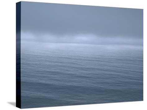 Gloomy Low Clouds over the Pacific Ocean Along the Northern California Coast--Stretched Canvas Print