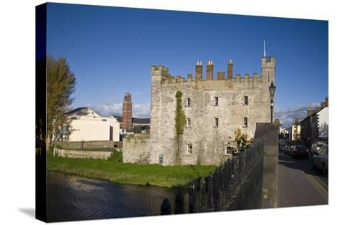 White's Castle,Bridge over the River Barrow,Athy, Co Kildare, Ireland--Stretched Canvas Print