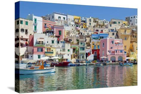 Marina Corricella, Procida Island, Bay of Naples, Campania, Italy--Stretched Canvas Print