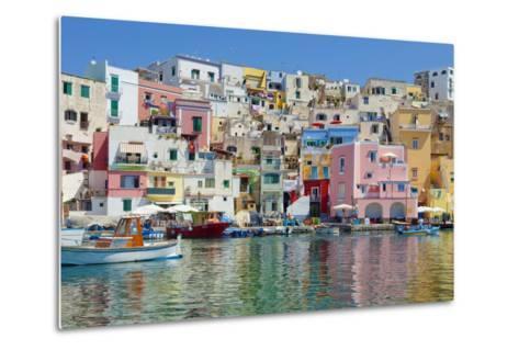 Marina Corricella, Procida Island, Bay of Naples, Campania, Italy--Metal Print