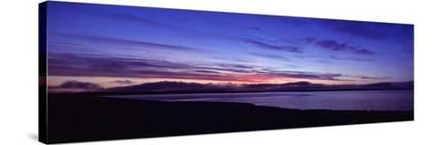 Sunset over Scapa Flow Overlooking the Oil Terminal at Flotta, Orkney Islands, Scotland--Stretched Canvas Print