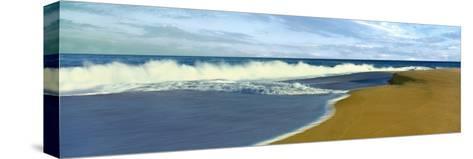Waves on Beach, Playa La Cachora, Todos Santos, Baja California Sur, Mexico--Stretched Canvas Print