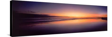 Beach at Sunrise, Papamoa Beach, Bay of Plenty, North Island, New Zealand--Stretched Canvas Print