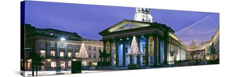 Gallery of Modern Art with Christmas Decorations, Glasgow City Centre, Glasgow, Scotland--Stretched Canvas Print