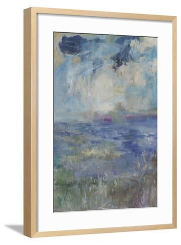 Blue Rain Shower-Jodi Maas-Framed Art Print