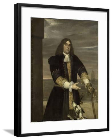 Portrait of Sea Captain Jan Van Gelder, Stepson of Michiel Adriaensz De Ruyter-Jan Andrea Lievens-Framed Art Print