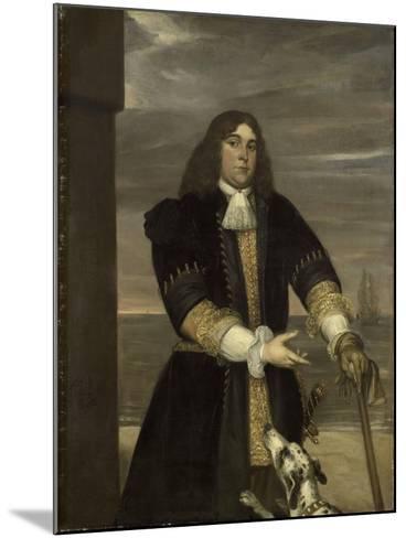 Portrait of Sea Captain Jan Van Gelder, Stepson of Michiel Adriaensz De Ruyter-Jan Andrea Lievens-Mounted Art Print