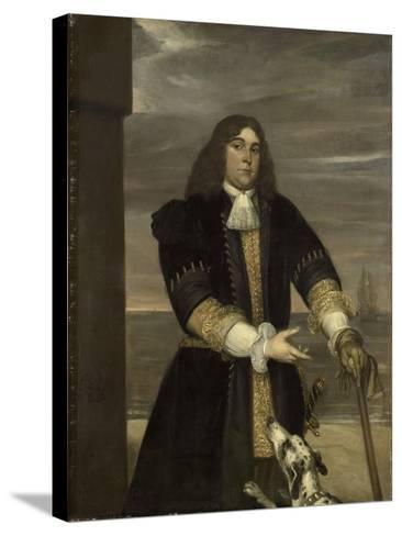 Portrait of Sea Captain Jan Van Gelder, Stepson of Michiel Adriaensz De Ruyter-Jan Andrea Lievens-Stretched Canvas Print