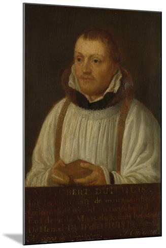 Portrait of Huybert Duyfhuys, Minister of St Jacobskerk in Utrecht-Hendrick Martensz Sorgh-Mounted Art Print