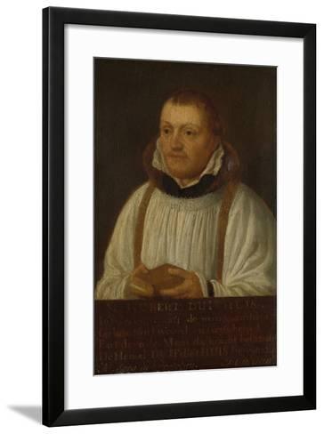 Portrait of Huybert Duyfhuys, Minister of St Jacobskerk in Utrecht-Hendrick Martensz Sorgh-Framed Art Print