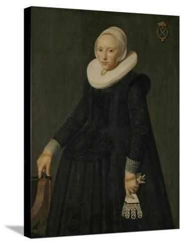 Portrait of Trijntje Tijsdr Van Nooij-Nicolaes Eliasz Pickenoy-Stretched Canvas Print