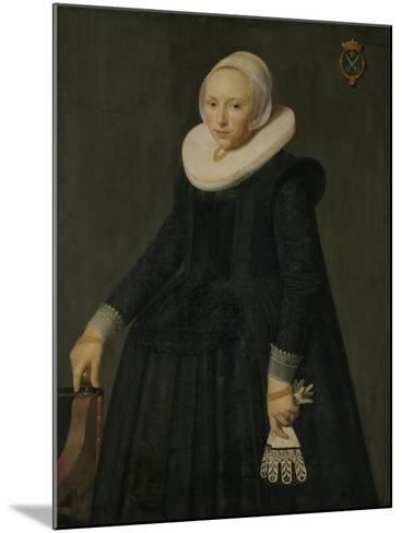 Portrait of Trijntje Tijsdr Van Nooij-Nicolaes Eliasz Pickenoy-Mounted Art Print