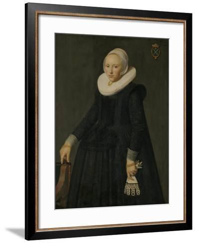Portrait of Trijntje Tijsdr Van Nooij-Nicolaes Eliasz Pickenoy-Framed Art Print