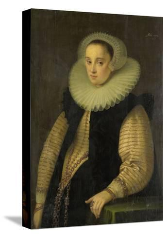 Portrait of Hortensia Del Prado (Died), Wife of Jean Fourmenois-Gortzius Geldorp-Stretched Canvas Print