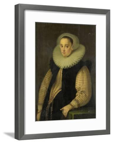 Portrait of Hortensia Del Prado (Died), Wife of Jean Fourmenois-Gortzius Geldorp-Framed Art Print