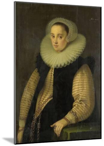 Portrait of Hortensia Del Prado (Died), Wife of Jean Fourmenois-Gortzius Geldorp-Mounted Art Print