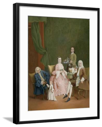 Portrait of a Venetian Family with a Manservant Serving Coffee-Pietro Longhi-Framed Art Print