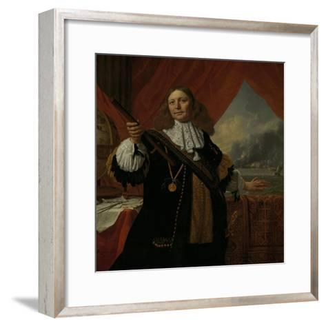 Portrait of Vice-Admiral Johan De Liefde--Framed Art Print