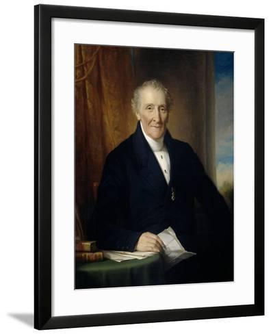 Portrait of Rodolphe Le Chevalier-Jan Adam Kruseman-Framed Art Print