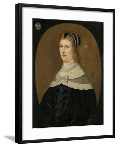 Portrait of a Woman, Called Theodora De Visscher--Framed Art Print