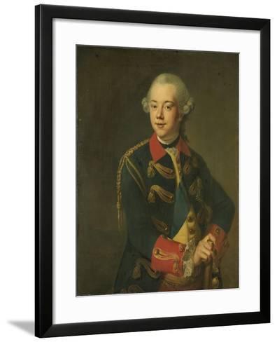 Portrait of William V, Prince of Orange-Nassau-Johann Georg Ziesenis-Framed Art Print