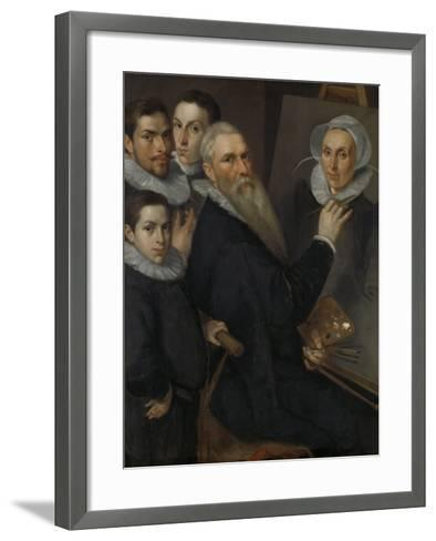 Self- Portrait of the Painter with His Family,-Jacob Willemsz Delff I-Framed Art Print