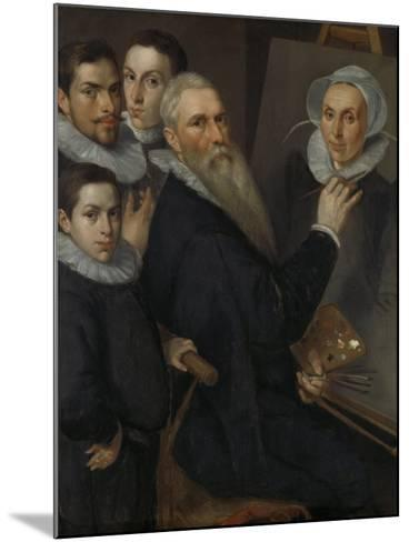 Self- Portrait of the Painter with His Family,-Jacob Willemsz Delff I-Mounted Art Print