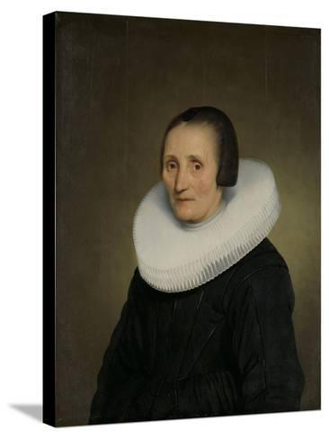 Portrait of Margaretha De Geer, Wife of Jacob Jacobsz. Trip-Jacob Gerritsz Cuyp-Stretched Canvas Print