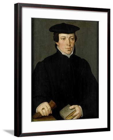 Portrait of a Young Clergyman, Pieter Pourbus.-Pieter Pourbus-Framed Art Print