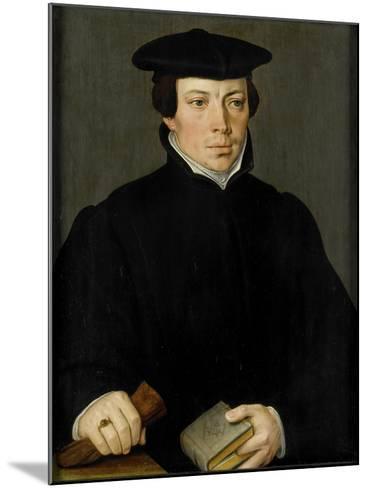 Portrait of a Young Clergyman, Pieter Pourbus.-Pieter Pourbus-Mounted Art Print