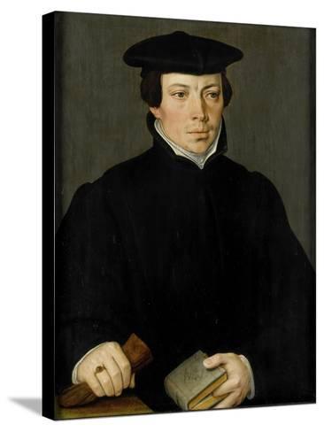 Portrait of a Young Clergyman, Pieter Pourbus.-Pieter Pourbus-Stretched Canvas Print