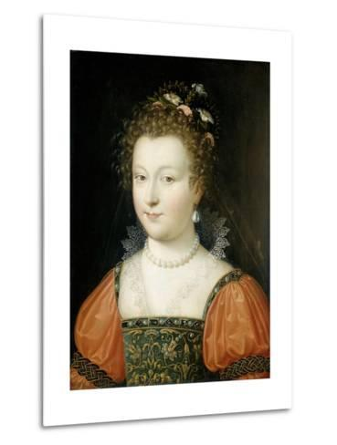 Portrait of a Woman (Previously Identified as Queen Elizabeth I)--Metal Print