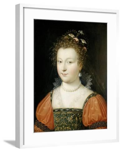 Portrait of a Woman (Previously Identified as Queen Elizabeth I)--Framed Art Print