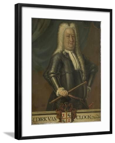 Portrait of Dirk Van Cloon, Governor-General of the Dutch East Indies-Hendrik van den Bosch-Framed Art Print
