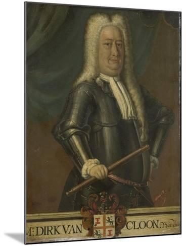 Portrait of Dirk Van Cloon, Governor-General of the Dutch East Indies-Hendrik van den Bosch-Mounted Art Print