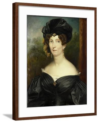 Portrait of Petronella De Lange, Wife of Theodorus Frederik Van Capellen-Jacob Joseph Eeckhout-Framed Art Print